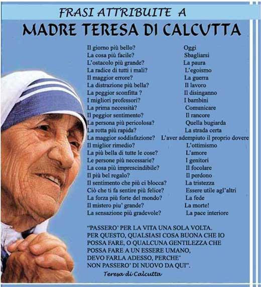Santa Madre Teresa Di Calcutta Cappellina Virtuale